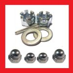 Castle (BZP) and Dome Nuts (A2) Kits - Honda CB125